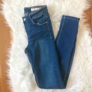 Zara High Rise Skinny Jeans Jeggings Leggings 2